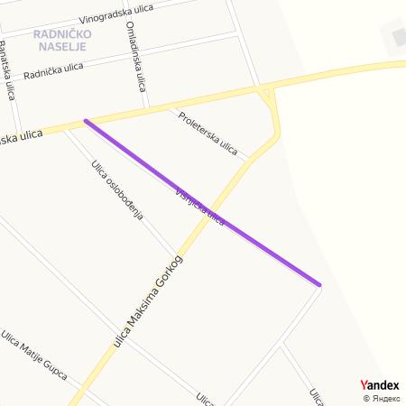 Вишњичка улица на Yandex мапи