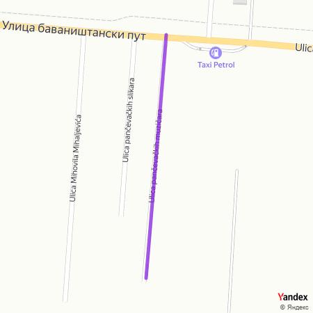 Улица панчевачких музичара на Yandex мапи