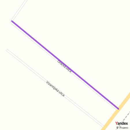 Орачка улица на Yandex мапи