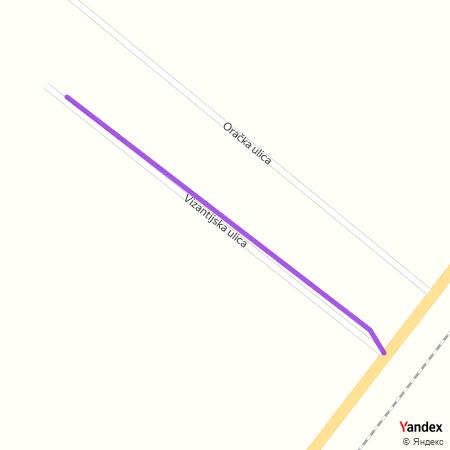 Византијска улица на Yandex мапи