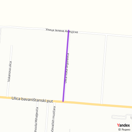 Улица Вука Гргуревића на Yandex мапи