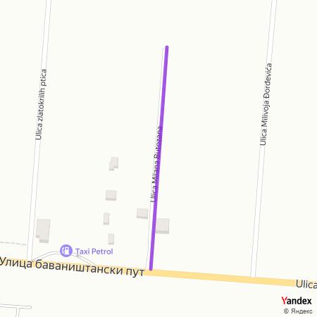 Улица Милана Бутозана на Yandex мапи