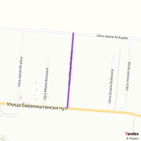 Улица Миливоја Ђорђевића на Yandex мапи
