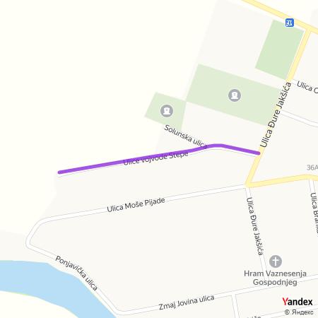 Улица Војводе Степе на Yandex мапи