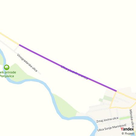 Улица плодних ораница на Yandex мапи