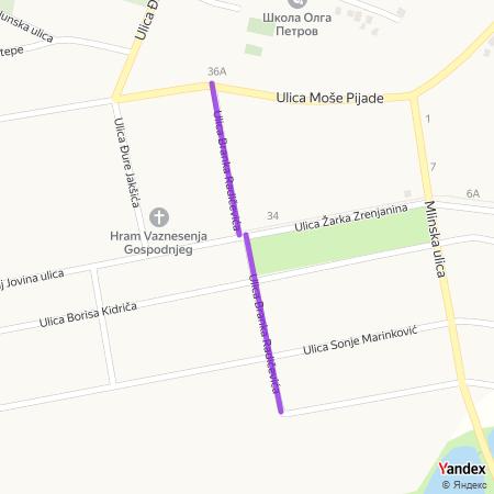 Улица Бранка Радичевића на Yandex мапи