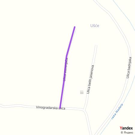 Улица ветрењача на Yandex мапи