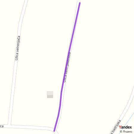 Улица белих јасенова на Yandex мапи