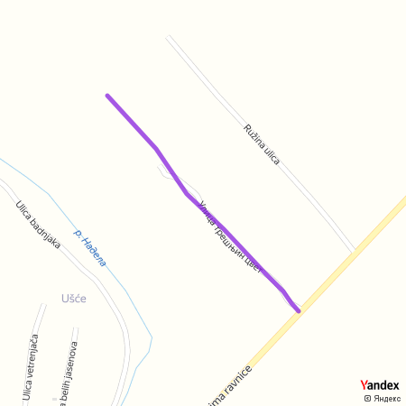 Улица трешњин цвет на Yandex мапи