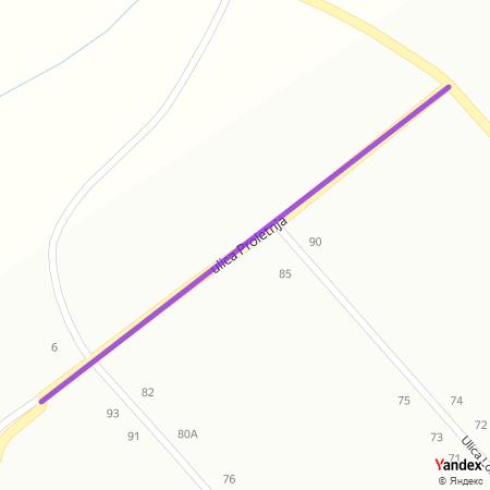 Пролетња улица на Yandex мапи
