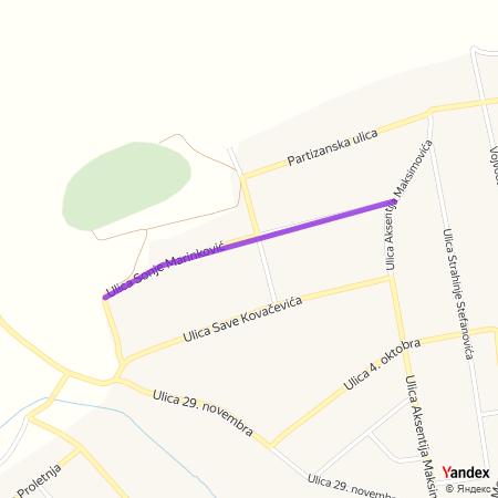 Улица Соње Маринковић на Yandex мапи