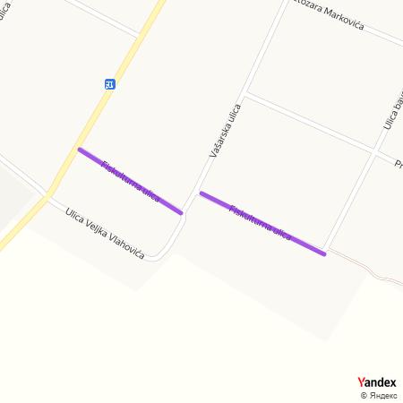 Фискултурна улица на Yandex мапи