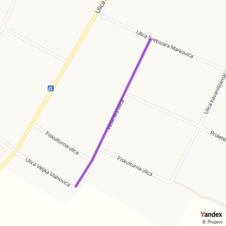 Вашарска улица на Yandex мапи