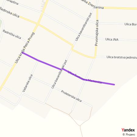 Улица Светозара Марковића на Yandex мапи