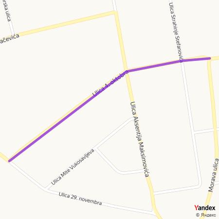 Улица 4. октобра на Yandex мапи