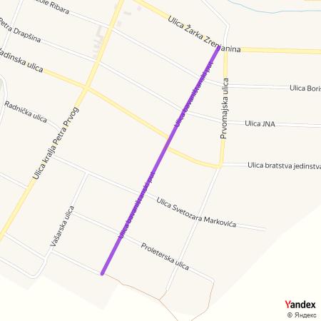 Улица баваништански пут на Yandex мапи