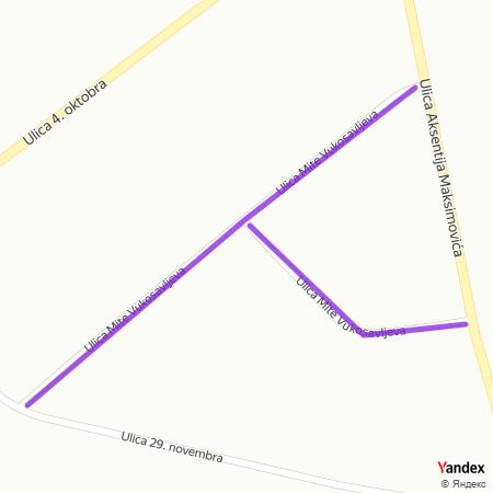 Улица Мите Вукосављева на Yandex мапи