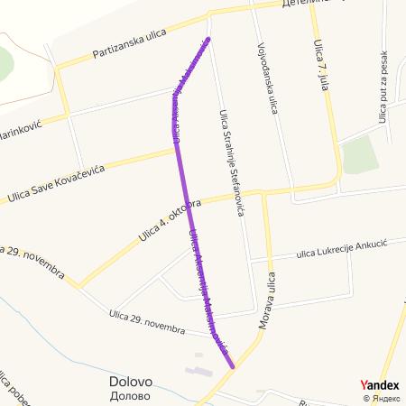 Улица Аксентија Максимовића на Yandex мапи