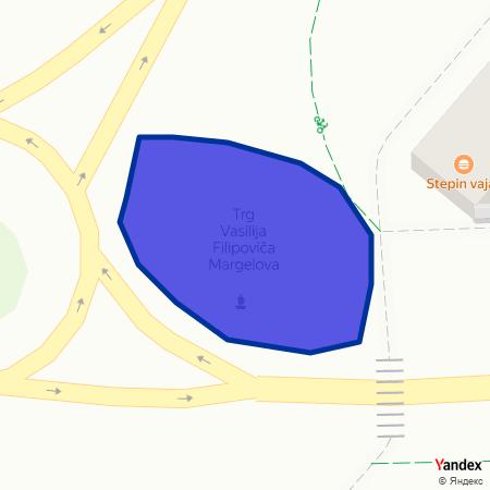 Трг Василија Филиповича Маргелова на Yandex мапи