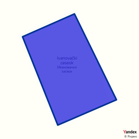 Ивановачки засеок на Yandex мапи