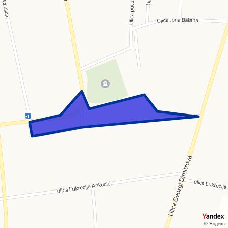 Трг ослобођења на Yandex мапи