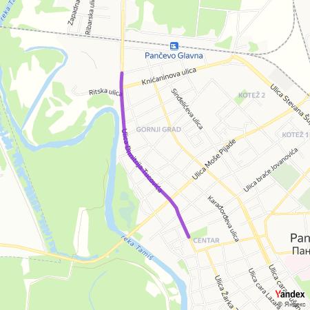 Улица Димитрија Туцовића на Yandex мапи
