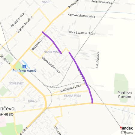 Козарачка улица на Yandex мапи