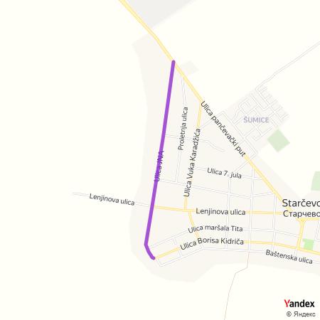Улица ЈНА на Yandex мапи