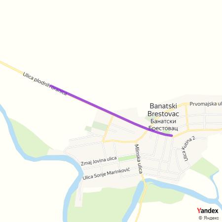 Улица маршала Тита на Yandex мапи