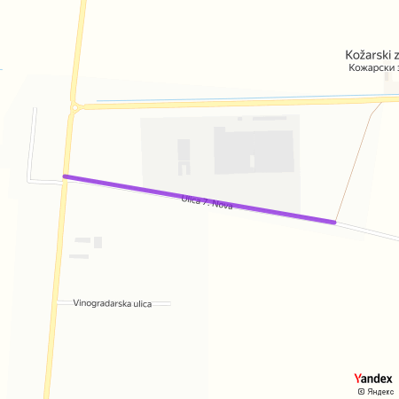 Улица 7. Нова на Yandex мапи
