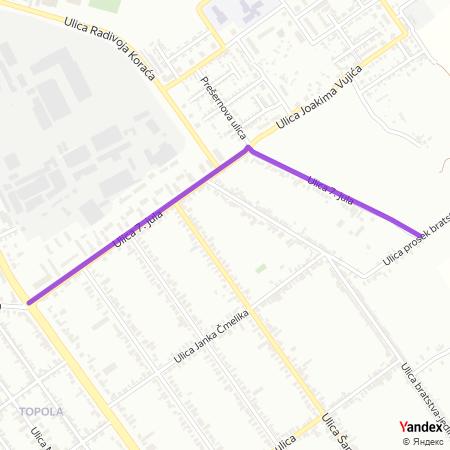 Улица 7. јула на Yandex мапи