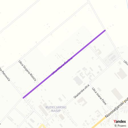 Улица Милана Ћурчина на Yandex мапи