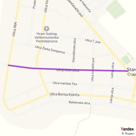 Лењинова улица на Yandex мапи