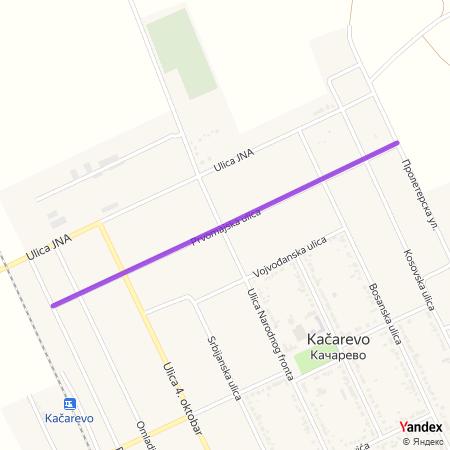 Првомајска улица на Yandex мапи