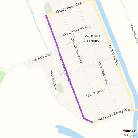 Војвођанска улица на Yandex мапи