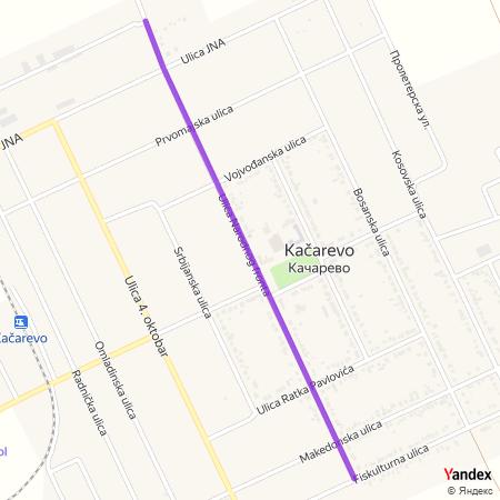 Улица Народног фронта на Yandex мапи
