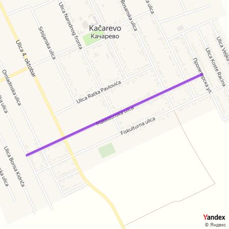 Македонска улица на Yandex мапи