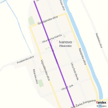 Улица 29. новембра на Yandex мапи