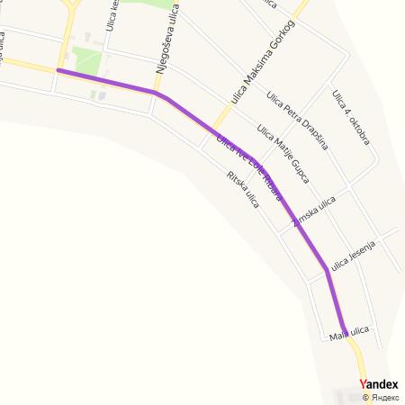 Улица Иве Лоле Рибара на Yandex мапи
