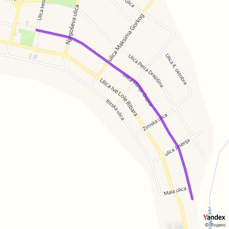 Улица Матије Гупца на Yandex мапи