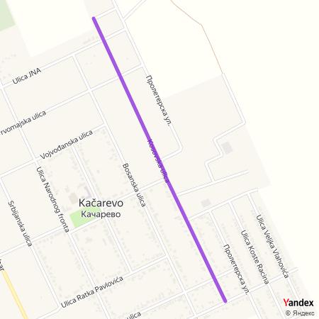 Косовска улица на Yandex мапи