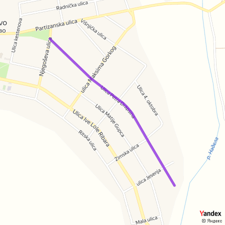 Улица Петра Драпшина на Yandex мапи