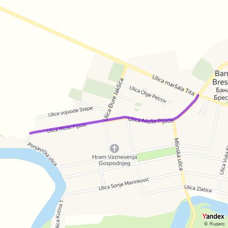 Улица Моше Пијаде на Yandex мапи