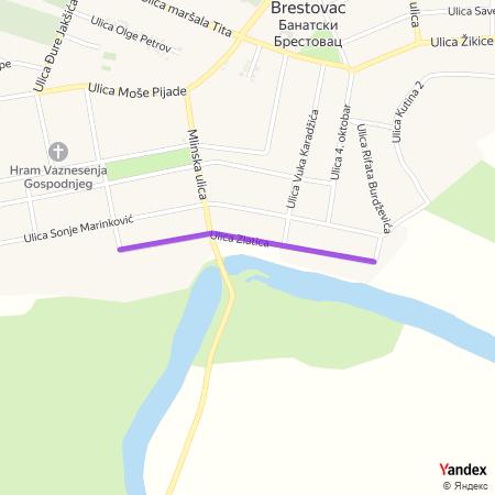 Улица златица на Yandex мапи