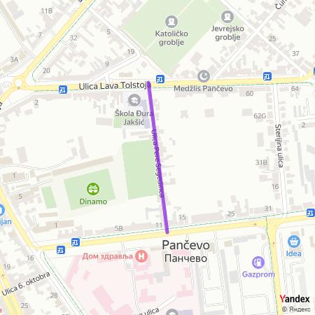 Улица Пере Сегединца на Yandex мапи