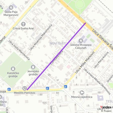 Чумићева улица на Yandex мапи