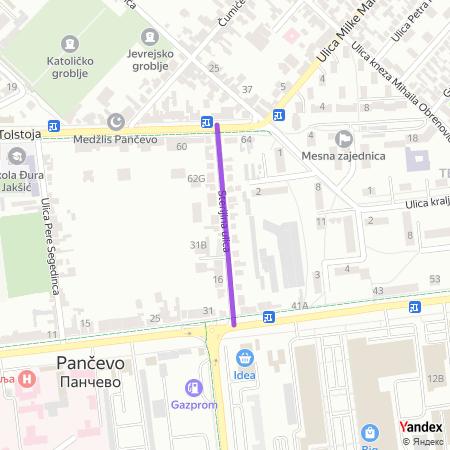 Стеријина улица на Yandex мапи