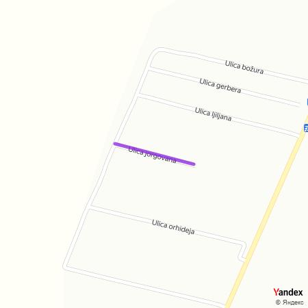 Улица јоргована на Yandex мапи