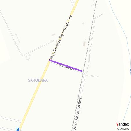 Улица гладиола на Yandex мапи