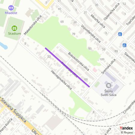 Приморска улица на Yandex мапи